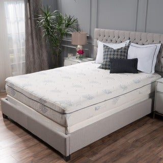 Aloe Gel Memory Foam 11-inch Queen-size Smooth Top Mattress by Christopher Knight Home (2 options available)