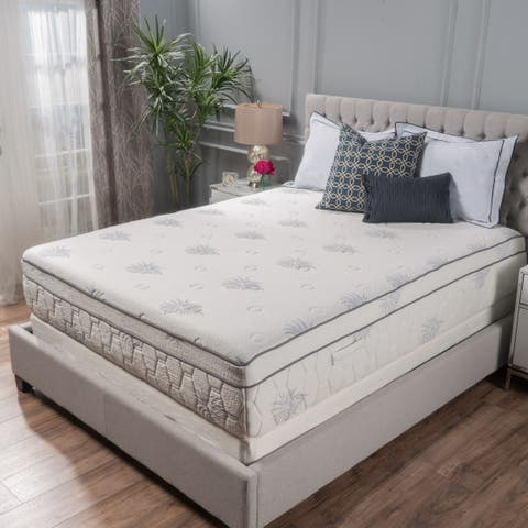 13-inch Aloe Gel Memory Foam Pillow Top Mattress by Christopher Knight Home