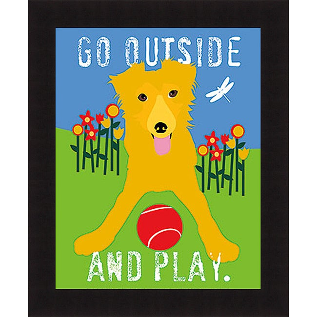 Ginger Oliphant 'Go Outside and Play' Framed Print