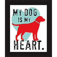 Ginger Oliphant 'My Dog Is My Heart' Framed Print - Multi