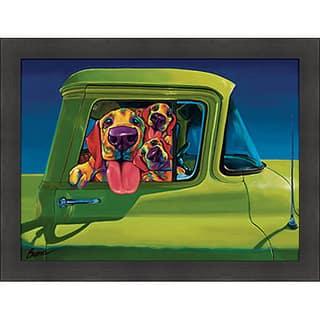Ron Burns 'I Wanna Go!' Framed Print|https://ak1.ostkcdn.com/images/products/6418181/P14025000.jpg?impolicy=medium