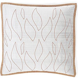 Flames Grey/Orange Silk Pillow