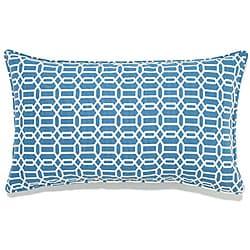 12 x 20-inch Mosaic Blue Outdoor Pillow - Thumbnail 0