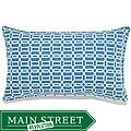 12 x 20-inch Mosaic Blue Outdoor Pillow