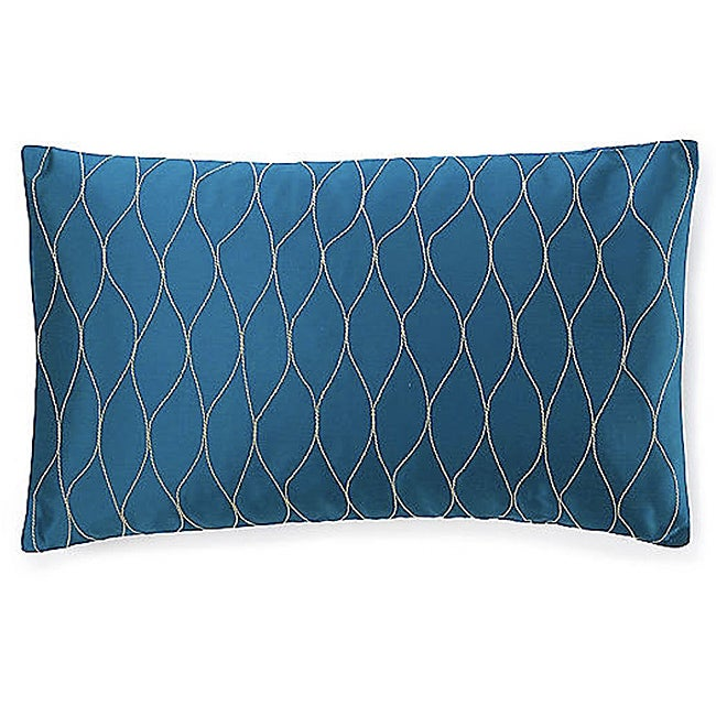 Kelp Blue Poly Decorative Pillow