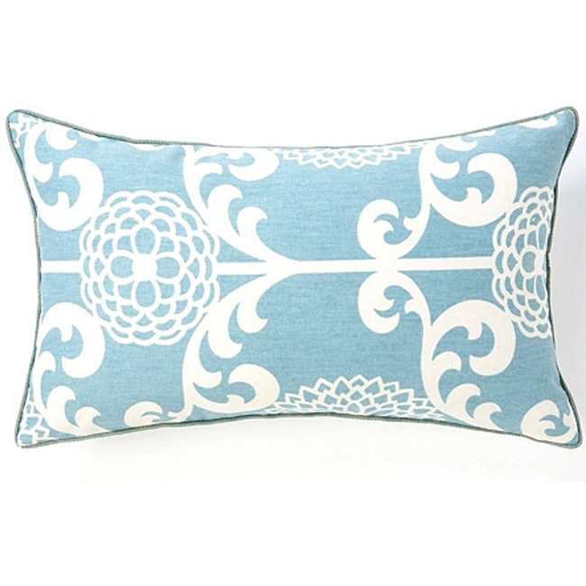 Floret Sky Cotton Decorative Pillow - Thumbnail 0