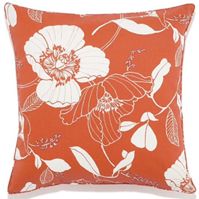 Poppy Orange Outdoor Pillow