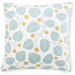 Jiti Bethe Leaves Aqua Decorative Down Pillow