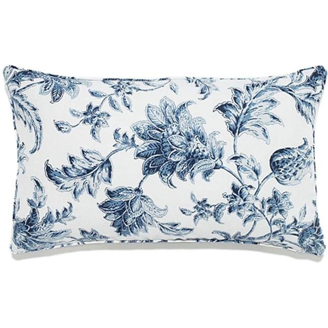 Liz Blue Outdoor Pillow