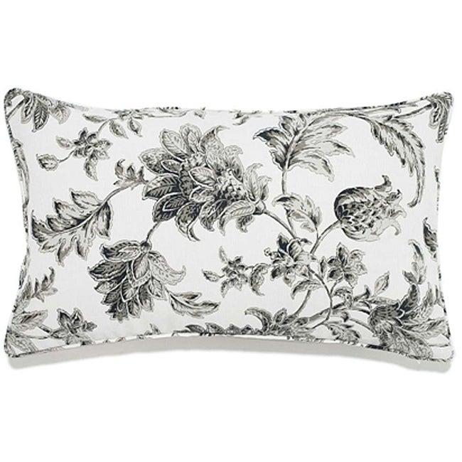 12 x 20-inch Liz Charcoal Outdoor Pillow