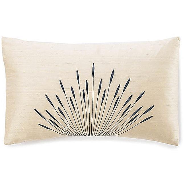 12 x 20-inch Branches Cream Silk Pillow