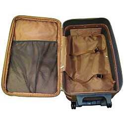 Amerileather Brown Leather 26-inch Expandable Rolling Upright Suitcase