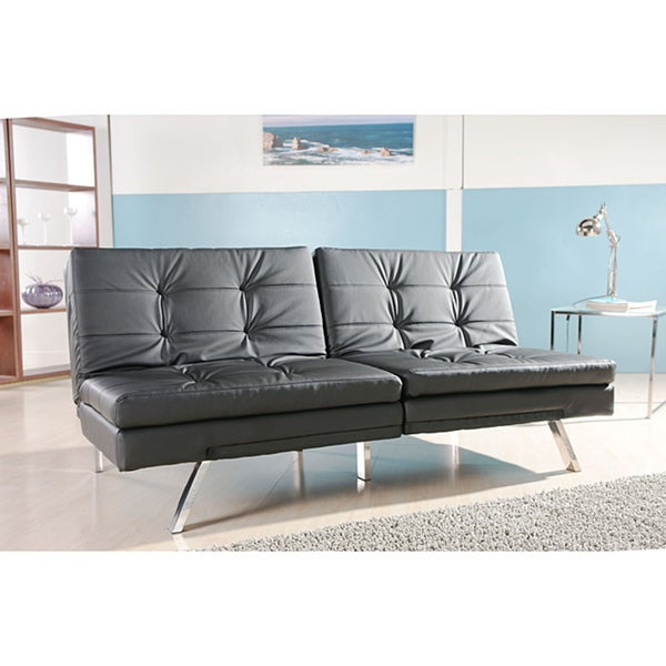 memphis black double cusion sofa bed free shipping today