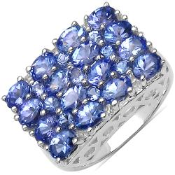 Malaika Sterling Silver Genuine Tanzanite Ring (2 4/5ct TGW)