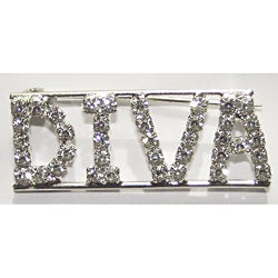 Detti Originals Silvertone 'DIVA' Crystal Pin