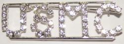 Detti Originals Silvertone 'USMC' Crystal Pin - Thumbnail 1