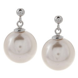 La Preciosa Sterling Silver 12-mm Created Shell Pearl Earrings