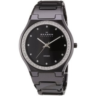 Skagen Women's Black Ceramic Crystal Watch