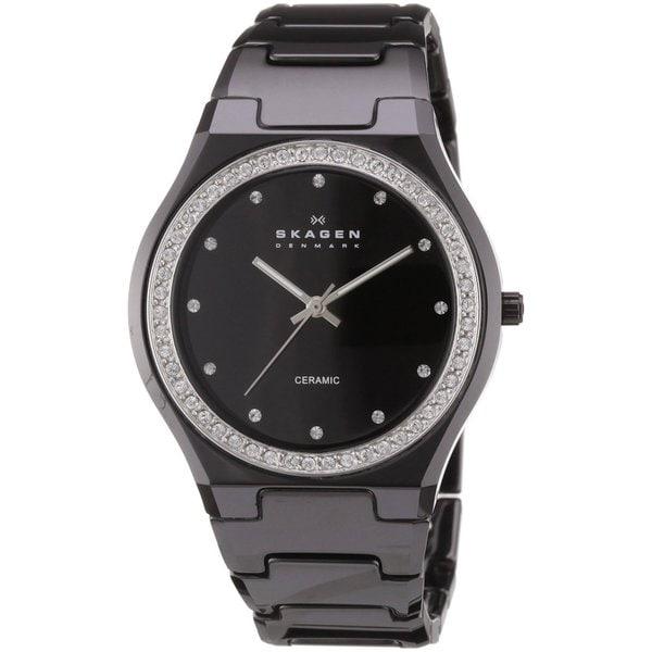 Skagen Women's Black Ceramic Crystal Watch
