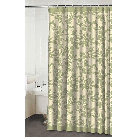 Leaves Beige Green Shower Curtain Free Shipping Today 14026601
