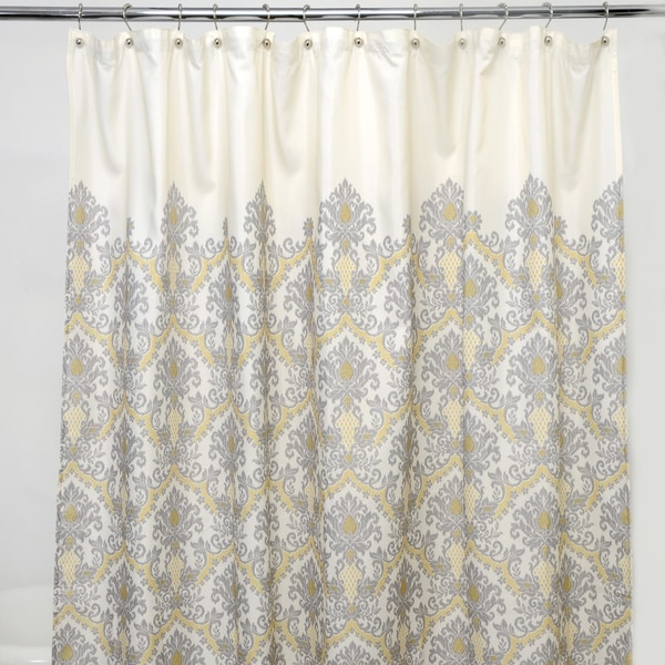 Bedazzled Grey Damask 100-percent Polyester Shower Curtain. Opens flyout.