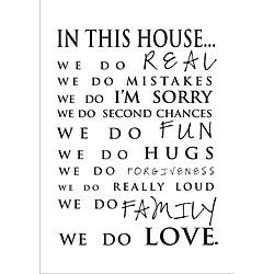 Vinyl Attraction 'In This House' Elegant Vinyl Wall Art.