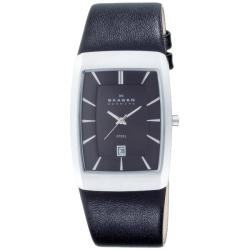 Skagen Denmark Men's Watch Black Rectangular Case