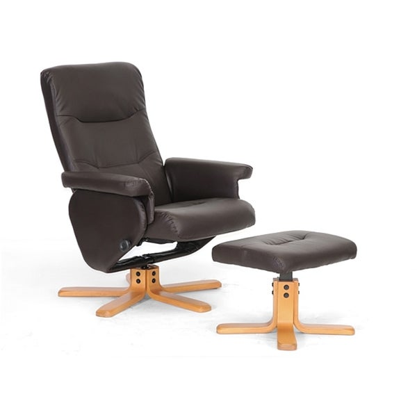 Oliver Brown Modern Recliner and Ottoman