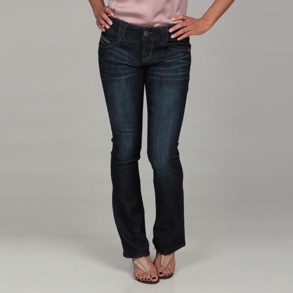 fd4a7871dbce1 Shop Jolt Junior's Royal Blue Stitch Bootcut Jeans - Free Shipping ...