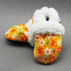 Orange Flower Soft Sole Baby Shoes (3 options available)
