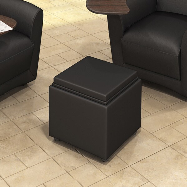 Mayline Santa Cruz Series Mobile Storage Ottoman