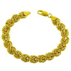 Fremada Gold over Sterling Silver Rosetta Bracelet