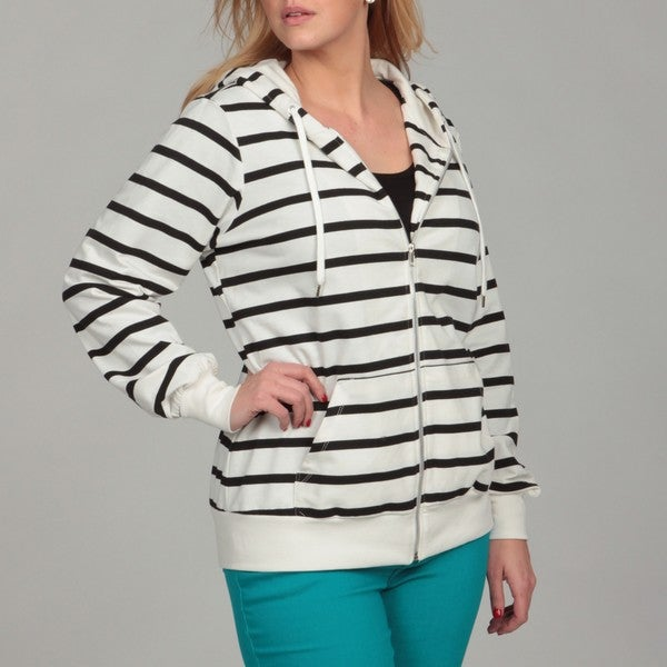 afd5102ca4e Shop Miss Chievous Junior s Plus Size Stripe Hoodie FINAL SALE ...