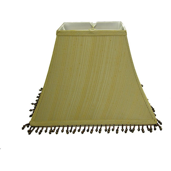 Gold Rectangular Shade with Brown Beads
