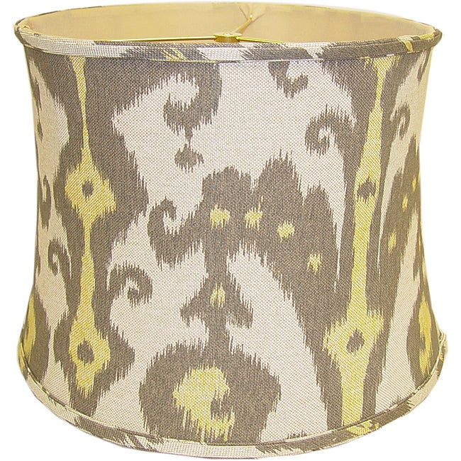 Retro Print Round Linen Drum Shade