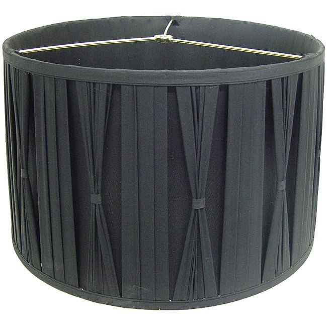 Black Cinched Pleats Round Shade Free Shipping Today