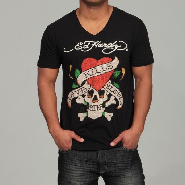 Shop Ed Hardy Men S Love Kills Slowly T Shirt Free Shipping On Orders Over 45 Overstock Com