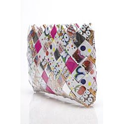 Sweet Cheeks Blow Pop Wrappers Recycled Handmade Clutch - Thumbnail 1
