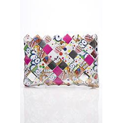 Sweet Cheeks Blow Pop Wrappers Recycled Handmade Clutch - Thumbnail 2