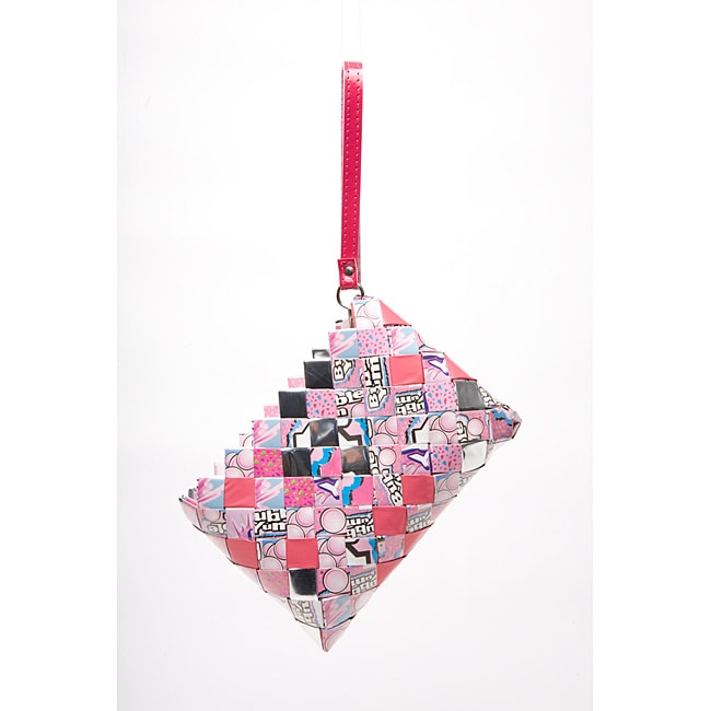 Sweet Cheeks Bubble Yum Wrappers Recycled Handmade Clutch