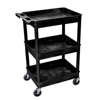 Porch & Den Bolivar Mercer Black 3-tub Shelf Utility Cart