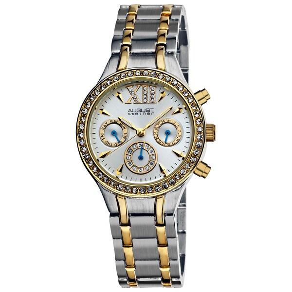 August Steiner Women's Crystal Multifunction Bracelet Watch