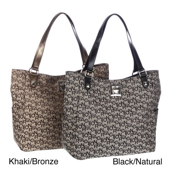 Kenneth Cole Reaction Jacquard Logo Tote