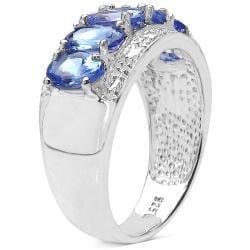 Malaika Sterling Silver Genuine Tanzanite Ring (2 3/5ct TGW)