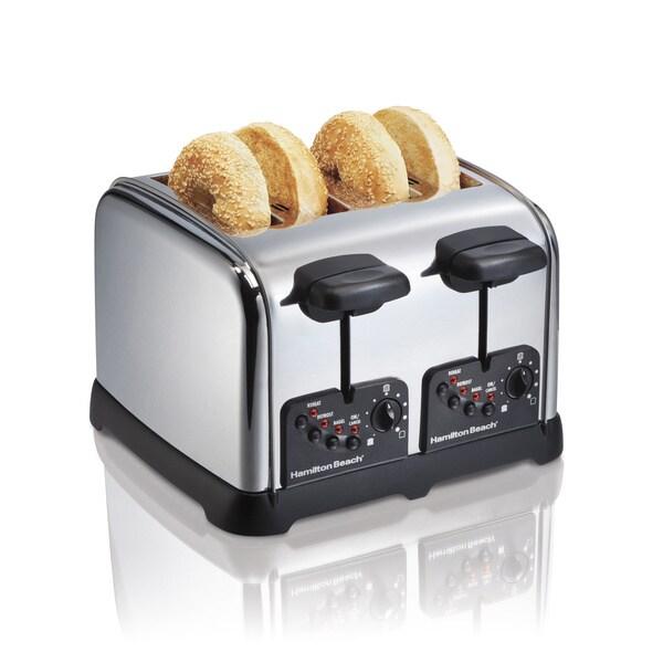 Hamilton Beach 24790 Chrome 4 Slice Toaster