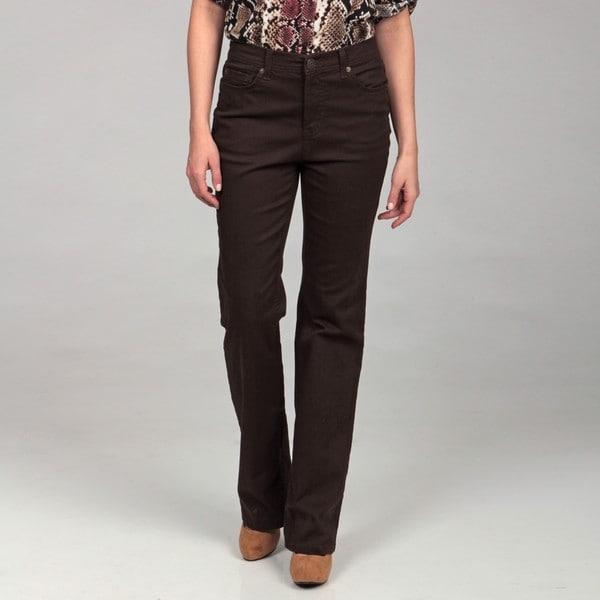Jones New York Women's Root beer Brown Bootcut Jeans - Free ...
