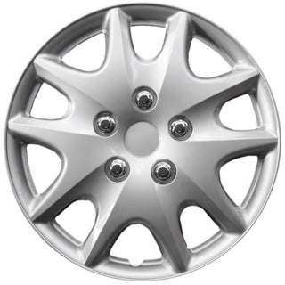 Design KT100915S_L ABS Silver 15-inch Hub Caps (Set of 4)