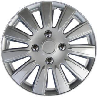 Design KT101115S-L ABS Silver 15-inch Hub Caps (Set of 4)
