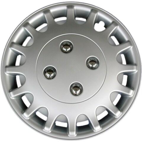 Design KT101813S_L ABS Silver 13-inch Hub Cap (Set of 4)