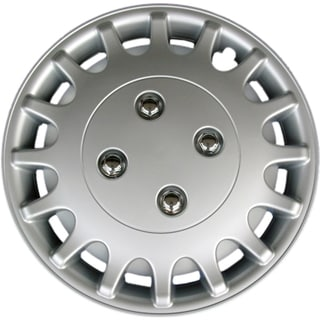 Design KT101813S_L ABS Silver 13-inch Hub Cap (Set of 4)